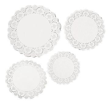 Round Lace Paper Doilies 200 Pieces White