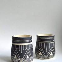 B L A C K S T O N E : set of ceramic tumblers
