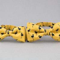 Mustard Bow Ties for Father Son Adult Child Bow Ties Flamingo Bow Tie Ring Baerer Bow Tie Yellow Kids Bow Tie Big and Small Bow Tie Dad Son