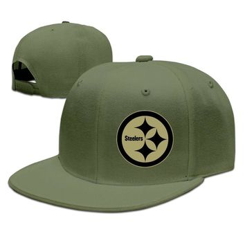 Pittsburgh Steelers Salute To Service Logo Printing Unisex Adult Womens Hip-hop Cap Mens Hip-hop Cap