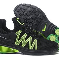 Nike Black/Green Shox Avenue Men's Shoes Size 40-46