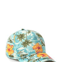 Tropical Print Baseball Cap