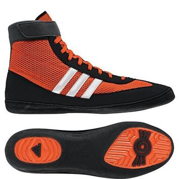 ADIDAS COMBAT SPEED 4 WRESTLING SHOES - ORANGE/BLACK