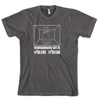 Schrodinger's Cat is Both Dead And Alive T-Shirt Funny Tee for Physicists