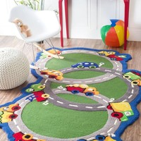 nuLOOM Hand Tufted U Turn Area Rug