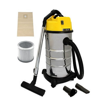MAXBLAST Industrial Wet & Dry Vacuum Cleaner & Attachments, Powerful 1400W, 30 Litre, Stainess Steel