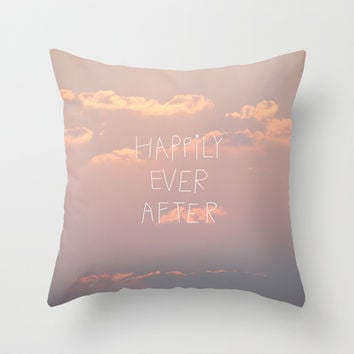 Happily Ever After Throw Pillow by Revital Naumovsky