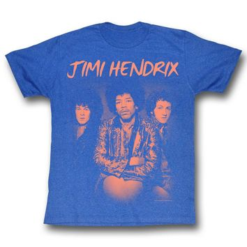 Jimi Hendrix Men's  The Jim Gang Slim Fit T-shirt Seablue Heather