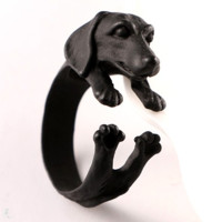 Black Dachshund Ring