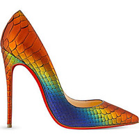 CHRISTIAN LOUBOUTIN - So Kate 120 python rainbow | Selfridges.com