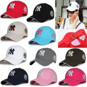 CREYIX5 Unisex New York Yankees Cap Snapback Baseball Sport Adjustable NY Summer Sun hat