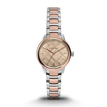 Burberry Women's Swiss Classic Round Two-Tone Stainless Steel Bracelet BU10117