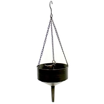 Home & Garden Metal Funnel Hanging Planter Outdoor Decor