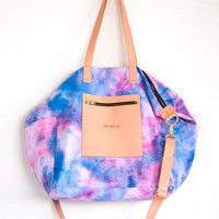 Emma Baby Bag // Blossom Tie-dye w. Nude Leather