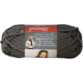 Deborah Norville Collection Serenity Chunky Sequin Yarn-Sparkling Silver