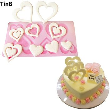 Valentine's Day Gift Heart Silicone Mold Cake Decorating Tools Cupcake Silicone Mold Chocolate Mould Muffin Pan Baking Stencil