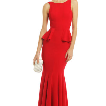 BCBGMAXAZRIA Flutter and Flirt Gown