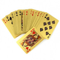 New 24K Karat Gold Foil Plated USD Playing Cards