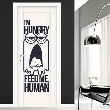 Interior Wall Decal Vinyl Sticker Art Decor programmer program i'm hungry feed me human feature ab citations door theme inscription (i131)