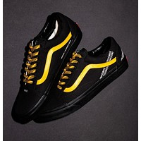 Coutie Vans Logo Stripe Old Skool White and yellow cordon canvas shoes