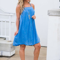 Easy Going Dress, Ice Blue