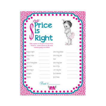 "Baby Shower Game  ""The Price is Right""  Printable"