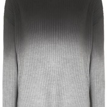 Dip-Dye Ribbed Knit Jumper