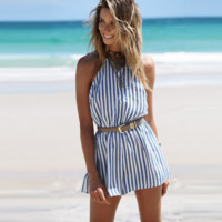 HOT STRIPE ONE PIECE ROMPER JUMPSUIT PLAYSUIT