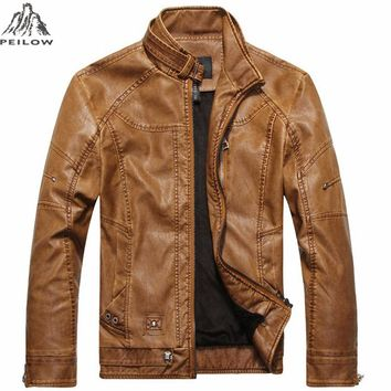 new winter jacket motorcycle men's leather coats outerwear male leather jacket men jacket and coat brand clothing
