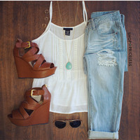 Maddie Top - White