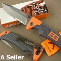 "GERBER BEAR GRYLLS SCOUT LOCKBACK FOLDING KNIFE 4"" CLOSED 7 1/4"" OPEN"