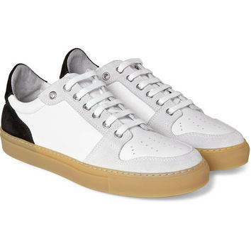 AMI - Leather and Suede Sneakers | MR PORTER