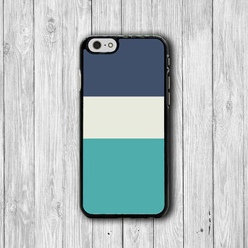 Minimal Blue Tri Color Pentone Art iPhone 6 Cases, Indigo Blue iPhone 6 Plus Print iPhone 5S iPhone 5 Case, iPhone 5C Case, iPhone 4S Case