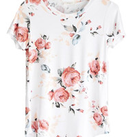 Zoe Floral Tee: 2 Colors