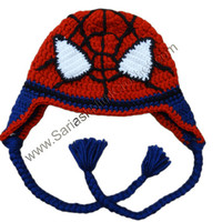 Spider Hat for Toddler Boys - Spider hat Photo Props for Kids - Baby Spider Man hats for Boys - Spider Man Hat - Red Spider Hat For Boys