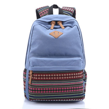 College Hot Deal Comfort On Sale Back To School Stylish Casual Canvas Print Backpack [6304975684]