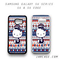 hello kitty cute aztec Phone case for samsung galaxy S6 & S6 EDGE