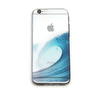 iPhone 6 Clear Case Ocean Wave Hawaii iPhone 6 Plus Soft Case Surf iPhone 6 Plus Slim Design Case Ocean Sea Nature 1230