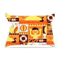 "Tobe Fonseca ""Summer"" Orange Seasonal Pillow Case"