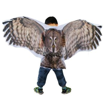 Owl, Butterfly Wings Cosplay Dress Fantasy Birds Child Kids Costume