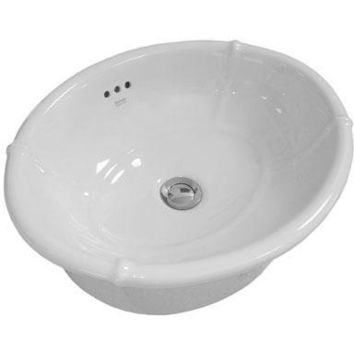 Empire White Drop-in Oval Ceramic Vessel Sink Bowl Sink Lavatory Washbasin