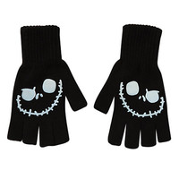 The Nightmare Before Christmas Glow-In-The-Dark  Jack Fingerless Gloves | Hot Topic