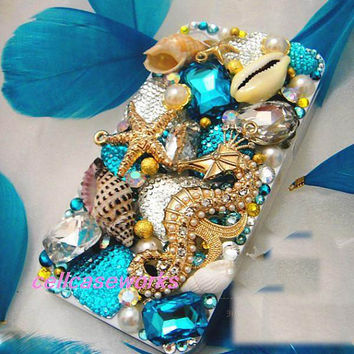 Blue Gold iPhone Case beach iPhone Cover iPhone 5 Case iPhone 4 4s case galaxy s3 case iPod 5 case ,iPod 4 Case. galaxy s2 case ocean theme