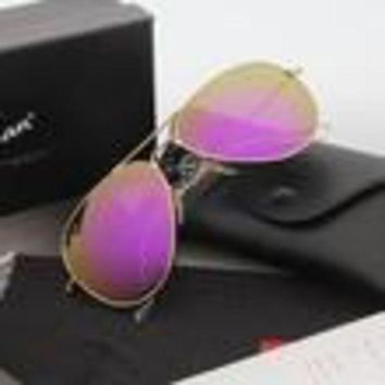 ESBON Ray Ban Aviator Sunglasses Gold Frame Purple Flash Lens Mirrored RB 3025