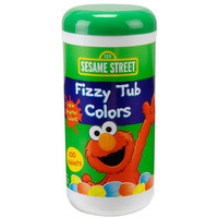 Sesame Street Jumbo Fizzy Tub Colors - 10.41 Ounce