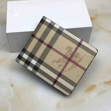One-nice™ Burberry Men Leather Wallet Purse