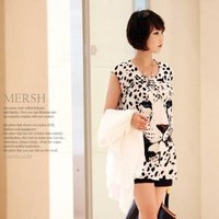 YESSTYLE: M.E.R.S.H- Leopard-Print Drop-Shoulder Top - Free International Shipping on orders over $150