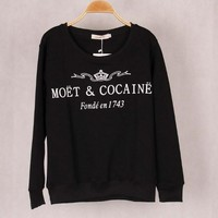 "Fashion ""Moet  & Cocaine"" T-shirt Sweater MMS1248"