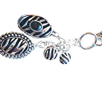 Black keychain or purse bling