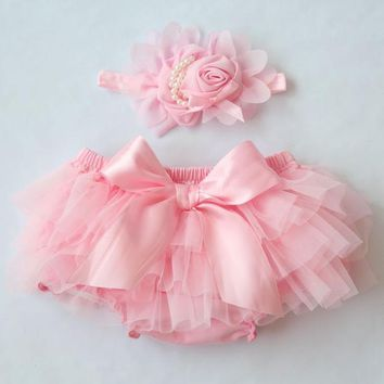 Hot Shorts Baby Cotton Chiffon Ruffle Tutu Bloomers Cute Baby Cake Diaper Cover Newborn Flower  Toddler girls fashion Summer ClothingAT_43_3